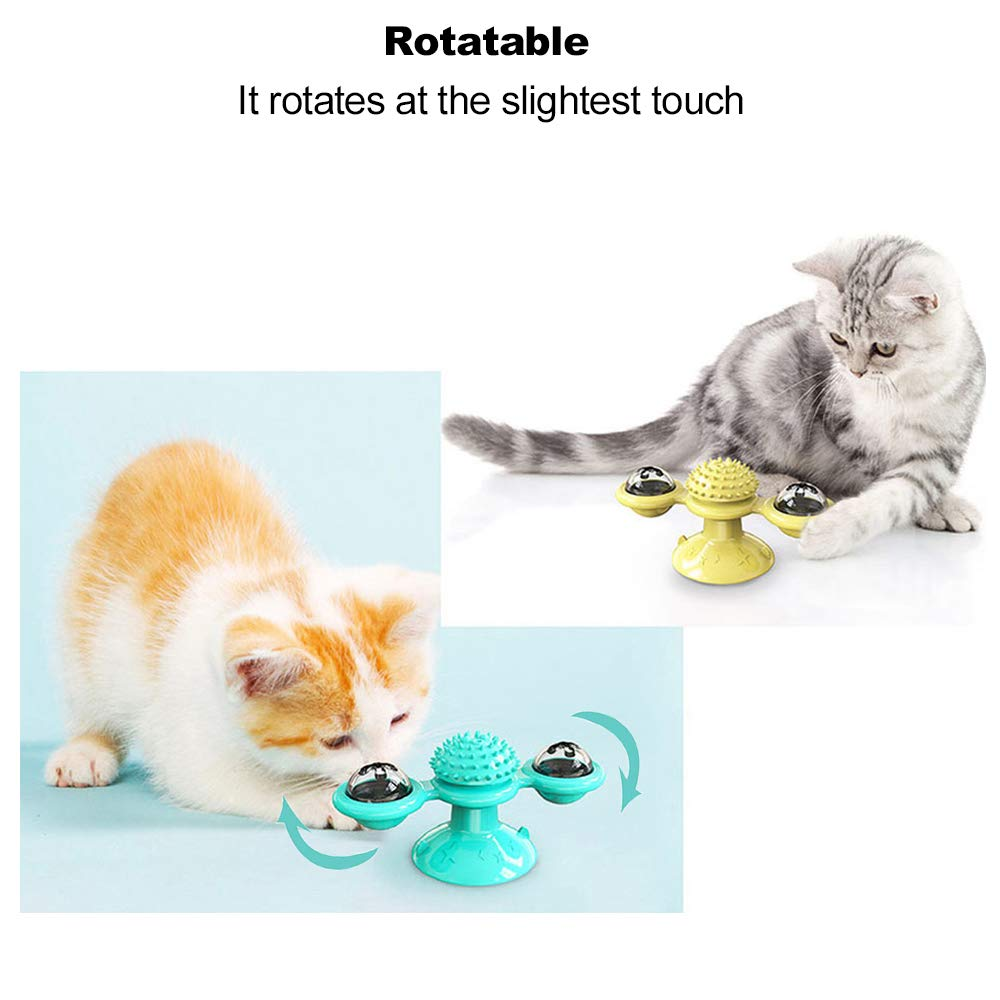 windmill cat toy Turntable Teasing Interactive cat toys interactive with Catnip Cat Scratching Tickle Pet ball toys Cat Supplies